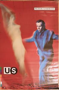 Peter Gabriel US Promotional Only Poster Unhung Unused Geffen 24 x 36