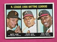 1967 TOPPS # 240 BRAVES FELIPE ALOU LEADERS EX-MT CARD (INV# C1337)