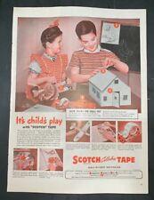 Life Magazine Ad 3M SCOTCH TAPE 1946 Ad