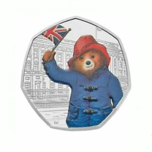 New Paddington Bear at the Palace 50p Silver Proof Royal Mint 2018 Original