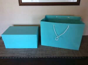Tiffany & Co. Teal Blue Gift Bag & Box Gifting Luxury Genuine AUTHENTIC X-Large