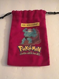 Pokemon #68 Machamp Red Marble Bag