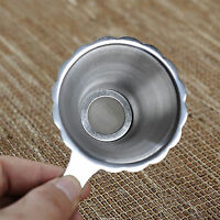 1x Double-layer Fine Mesh Tea Strainer Filter Sieve Stainless Steel Durable K