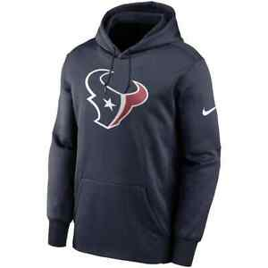 New 2021 NFL Houston Texans Nike Fan Gear Primary Logo Therma Pullover Hoodie