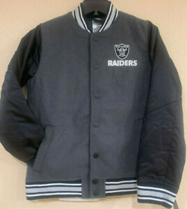 Oakland Raiders Youth Letterman Varsity Jacket by Outerstuff - NFL Licensed