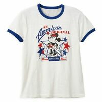 Disney Store Christmas Santa Mickey /& Minnie Mouse Holiday Womens T Shirt Sz S