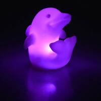 Colorful Night Light LED Dolphin Bedroom Lamp Home Party Decorations Kids Toy