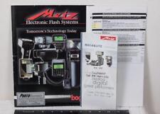 Metz Electronic Camera Flash Systems Catalog Brochure g25