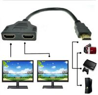 1080P HDMI Port Male to 2 Female 1 In 2 Out spliter Cable Adapter Converter xbox
