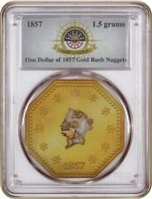 SS Central America Shipwreck $1 of 1857 Gold Rush Nuggets PCGS (1.5 grams)