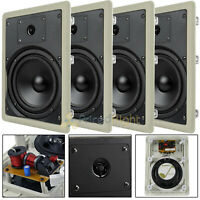 "4 Pack 6.5"" In Wall Speakers 2 Way Home Theater 50W Rms Mtx Audio Musica602w"
