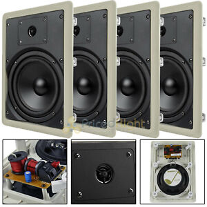 """4 Pack 6.5"""" In Wall Speakers 2 Way Home Theater 50W Rms Mtx Audio Musica602w"""