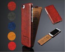 iPhone 5s/5/SE Farbe Grau  Leder Schutzhülle Luxus Tasche Klapp Etui Flip Case