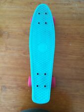 Skateboard Twobarefeet Edge Aqua Turquoise Blue Pink