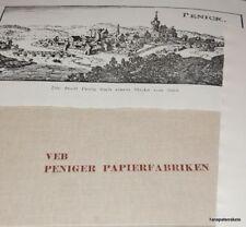 exquisite Mappe VEB Peniger Papierfabrik Penig DDR 1980 Drucke Geschichte Papier