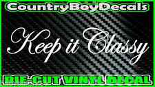 Keep It Classy VINYL DECAL STICKER Car Truck Turbo Boosted Diesel Funny Boost