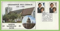 G.B. 1981 Royal Wedding set on official Hawkwood First Day Cover, Chingford
