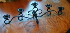 Iron centerpiece 5 candle holder