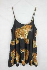 MINKPINK Retro 80s TIGER LEOPARDS 90s GRUNGE Babydoll Dress NEW S/10 Boho Gypsy