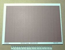 N gauge (1:160 scale) red roof tile paper - A4 sheet