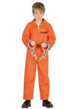 Childrens Size Orange Prisoner Convict Costume