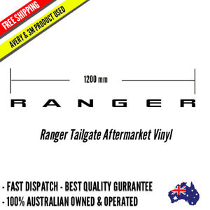 RANGER Tailgate Sticker Decal 1200mm wide premium Vinyl 4x4 off road