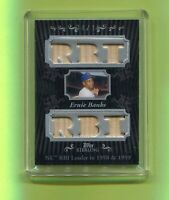 ERNIE BANKS CHICAGO CUBS 2008 TOPPS STERLING STARDOM RELIC BASEBALL CARD #04/10