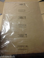 """25 Large Clear Polythene Plastic Bags 18"""" x 24""""(Packaging/Packing) FREE P+P PWN"""