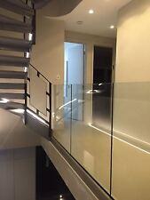 frameless Glass balcony, balustrade / freestanding, indoor & outdoor