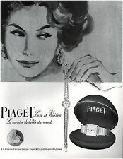 ▬► PUBLICITE ADVERTISING AD Montre Watch PIAGET 1957