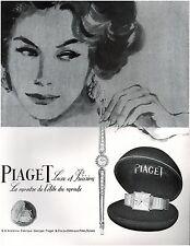 ▬► PUBLICITE ADVERTISING AD Montre Watch PIAGET 1957