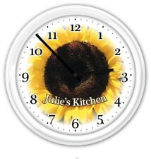 Sunflower Personalized Wall Clock - Kitchen Bathroom Bedroom Office Laundry GIFT