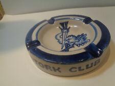 New listing Vintage Stork Club Nyc heavy Cigar Pottery Ashtray signed