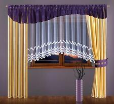 Juego De Cortinas Con Púrpura en galería cenefa increíble Blanco Jardinera Net Cortina