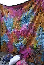 Queen Indian Hamsa Hand Large Mandala Wall Hanging Tapestry Hippie Tie Dye Throw