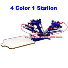 Silk Screen 4 Color 1 Station Printing Machine Adjustable Screen Printing Press