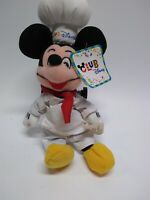 "Club Disney Store CD Chef Mickey 8"" Mini Bean Bag Plush NEW NWT Club Disney Yah"