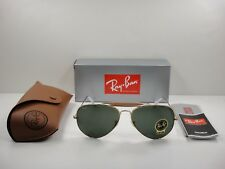 RAY-BAN OUTDOORSMAN II SUNGLASSES RB3029 L2112 GOLD /GREEN CLASSIC LENS 62MM