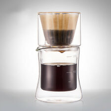 Double Wall Insulated Glass Cup Filter Cafe Brew Mug Espresso Coffee Maker 200ml