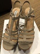 Steve Madden Womens Nalla Open Toe Casual Platform Sandals, Taupe, Size 7.5