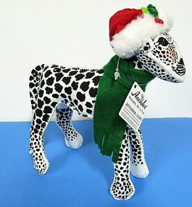 """Annalee Doll 7""""  Snow Leopard New Tags Hand Painted Bendable 2019 Figurine"""