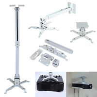 4 Arms Projector Ceiling Wall Mount Bracket LED LCD DLP Monitor Tilt Extendable