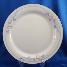 "Lenox Glories on Grey Salad Plate Cream Chinastone Pink Blue Flowers 8-3/8"""