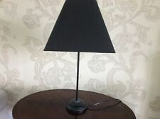 "Black Table Lamp with square shade. 22.5"" high Good condition."