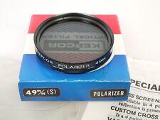 Kepcor Polarizer Filtres polarisants 49 mm einschraubgewinde Screw dans Top Comme neuf + Processeur en Boîte