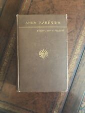 TOLSTOY - Anna Karenina  FIRST EDITION 1886 Crowell EXCELLENT