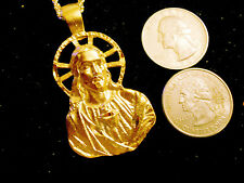 bling gold plated god jesus cross crucifix charm chain hip hop necklace jewelry
