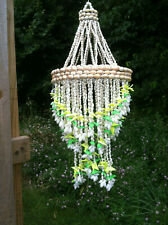 Chandelier Bubble Shell Hanging Spiral Design.Green.Yellow.Ivory Windchime