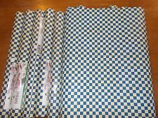 Imperial Wallcoverings NEW Wallpaper, blue white checked SAM3351, 56 sq ft. roll