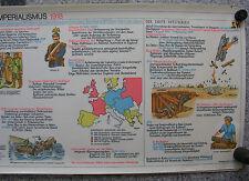 Wandbild Geschichtsfries Weltimperium 139x50 vintage imperialism wall chart 1965